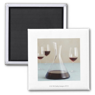 Carafe of red wine magnet