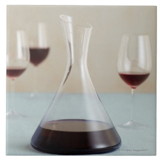 Carafe of red wine tile