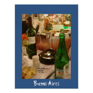 Carafe of Wine in Buenos Aires Poster