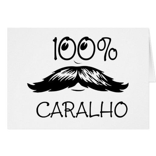 caralho_black greeting card