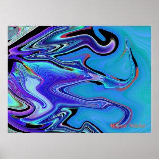 carámbano abstracto, Halima Ahkdar Póster