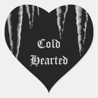 Carámbanos Hearted fríos del helada gótico Pegatina En Forma De Corazón