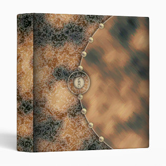 Caramel and Chocolate Brown 3 Ring Binder