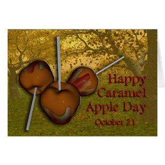 Caramel Apple Day Card October 21