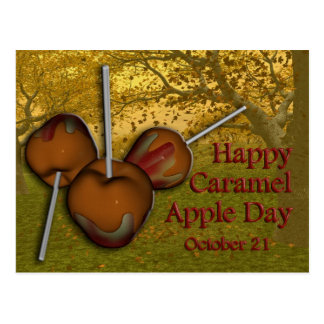 Caramel Apple Day Postcard October 21