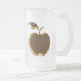 Caramel Apple Mug..! Frosted Glass Beer Mug