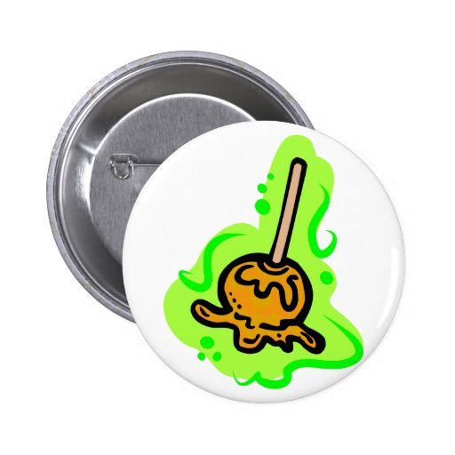 Caramel Apple Pinback Button