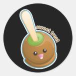 Caramel Apple Round Sticker