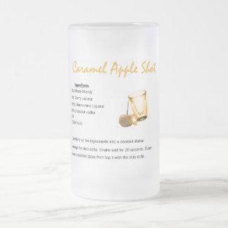Caramel Apple Shot Frosted Glass Beer Mug