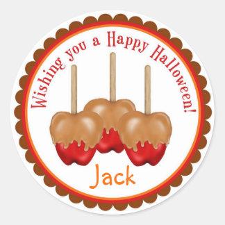 Caramel Apples Halloween Treat Stickers