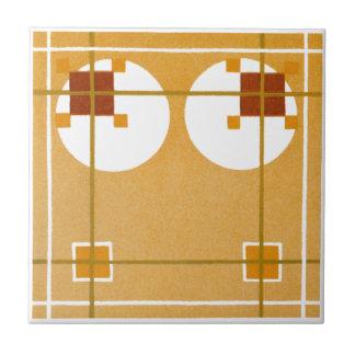 Caramel Art Deco Ceramic Tiles