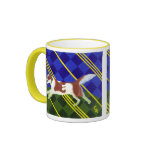 Caramel Border Collie Mugs