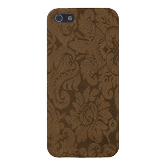 Caramel Brown Damask Weave Look Case For iPhone SE/5/5s