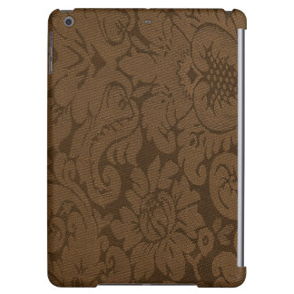 Caramel Brown Damask Weave Look Cover For iPad Air