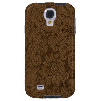 Caramel Brown Damask Weave Look Galaxy S4 Case