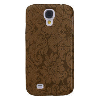 Caramel Brown Damask Weave Look Galaxy S4 Cover
