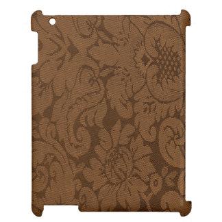 Caramel Brown Damask Weave Look iPad Case