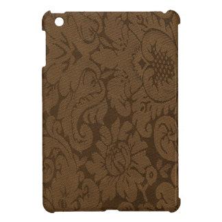 Caramel Brown Damask Weave Look iPad Mini Case