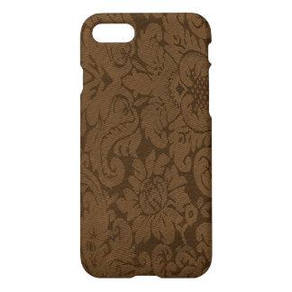 Caramel Brown Damask Weave Look iPhone 7 Case