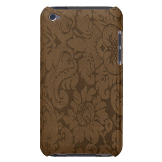 Caramel Brown Damask Weave Look iPod Touch Case-Mate Case