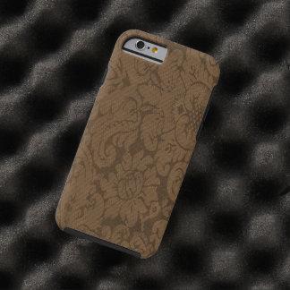 Caramel Brown Damask Weave Look Tough iPhone 6 Case