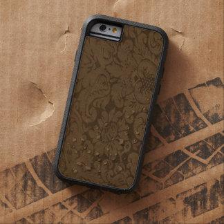 Caramel Brown Damask Weave Look Tough Xtreme iPhone 6 Case