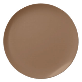 Caramel Brown - Dirt Brown - Tree Bark Party Plates