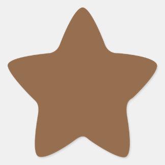 Caramel Brown - Dirt Brown - Tree Bark Star Sticker