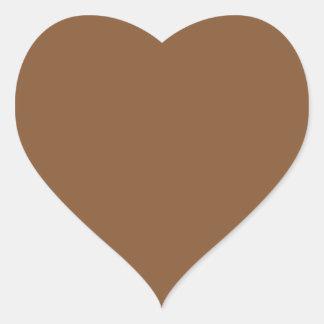 Caramel Brown - Dirt Brown - Tree Bark Heart Stickers