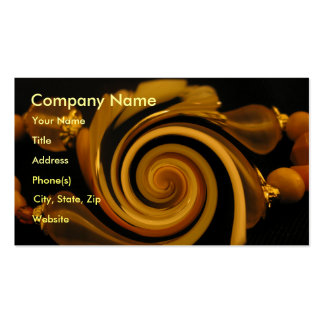 Caramel Candy Bangles Business Card Template