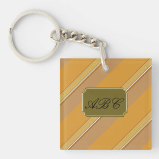 Caramel Candy Double-Sided Square Acrylic Keychain