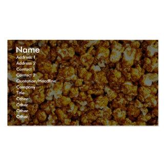 Caramel corn business cards