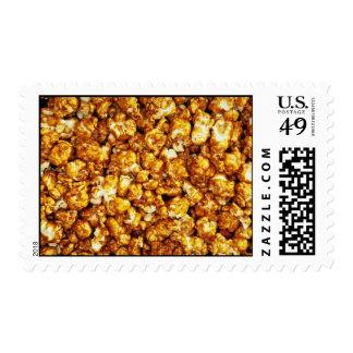 Caramel corn postage stamps