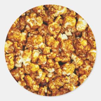 Caramel corn round sticker