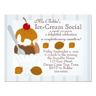 Caramel Covered Ice-Cream Card