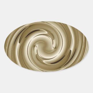 Caramel Cream Twist Oval Sticker