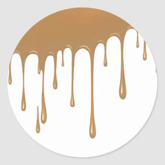 Caramel Drip Classic Round Sticker