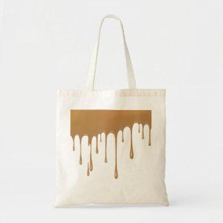Caramel Drip Tote Bag