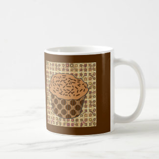 Caramel Frosted Cupcake with Sprinkles Coffee Mug
