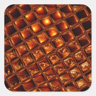 Caramel Honeycomb Square Sticker