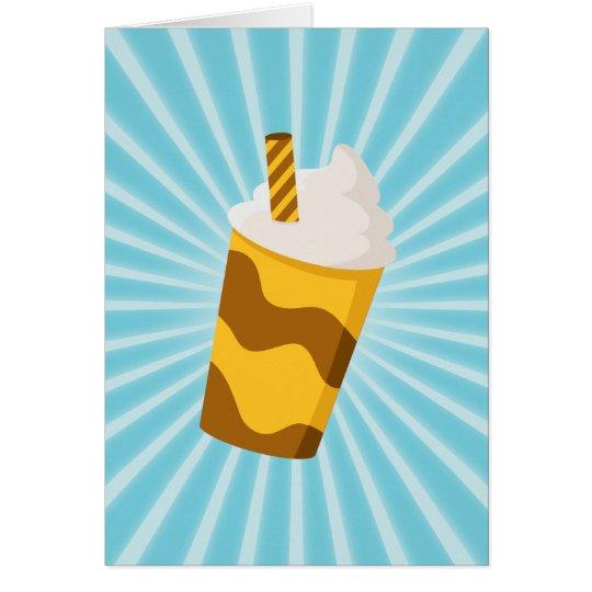 Caramel Milkshake Card