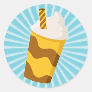 Caramel Milkshake Classic Round Sticker