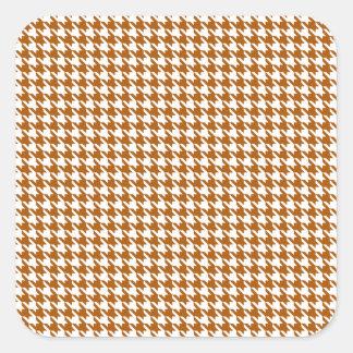Caramel Modern Houndstooth at Emporiomoffa Square Sticker