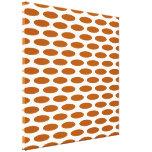 Caramel Modern Oval at Emporiomoffa Gallery Wrap Canvas