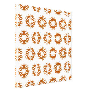 Caramel Modern Sunbursts Gallery Wrapped Canvas