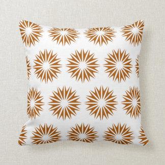 Caramel Modern Sunbursts Throw Pillow
