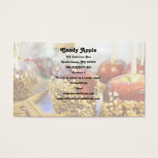 Caramel Peanut Apples Business Card