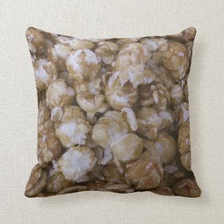 Caramel Pop Corn Throw Pillows