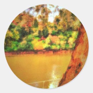 Caramel River Classic Round Sticker