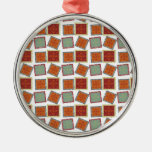 Caramel Squares Tilted Christmas Tree Ornament